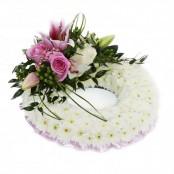 Pink Massed Wreath